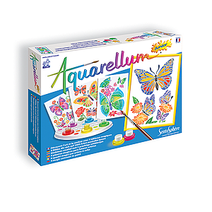 Aquarellum Junior Magic Canvas: Butterflies & Flowers