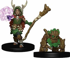 Roleplaying Game Pre-Painted Miniatures: Boy Druid & Tree Creature
