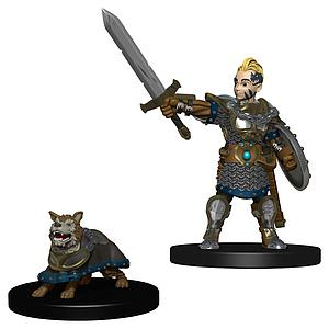Roleplaying Game Pre-Painted Miniatures: Boy Fighter & Battle Dog
