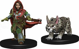 Roleplaying Game Pre-Painted Miniatures: Girl Ranger & Lynx