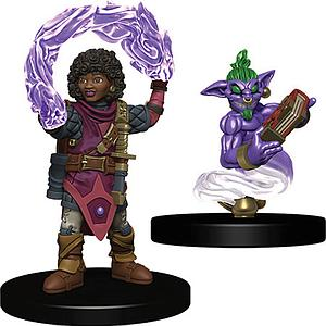 Roleplaying Game Pre-Painted Miniatures: Girl Wizard & Genie