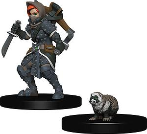 Roleplaying Game Pre-Painted Miniatures: Girl Rogue & Badger