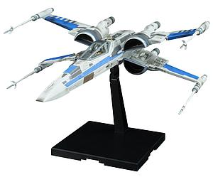 Star Wars 1/144 Scale Model Kit: Blue Squadron Resistance X-Wing Fighter (The Last Jedi)