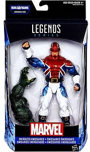 "Marvel Legends BAF Abomination Series Civil Wars 6"" Action Figure Secret War Captain Britain (Energized Emissaries)"