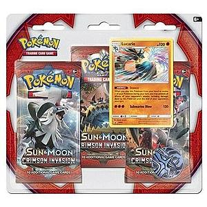 Pokemon Trading Card Game: Crimson Invasion 3-Pack Blister (Lucario)
