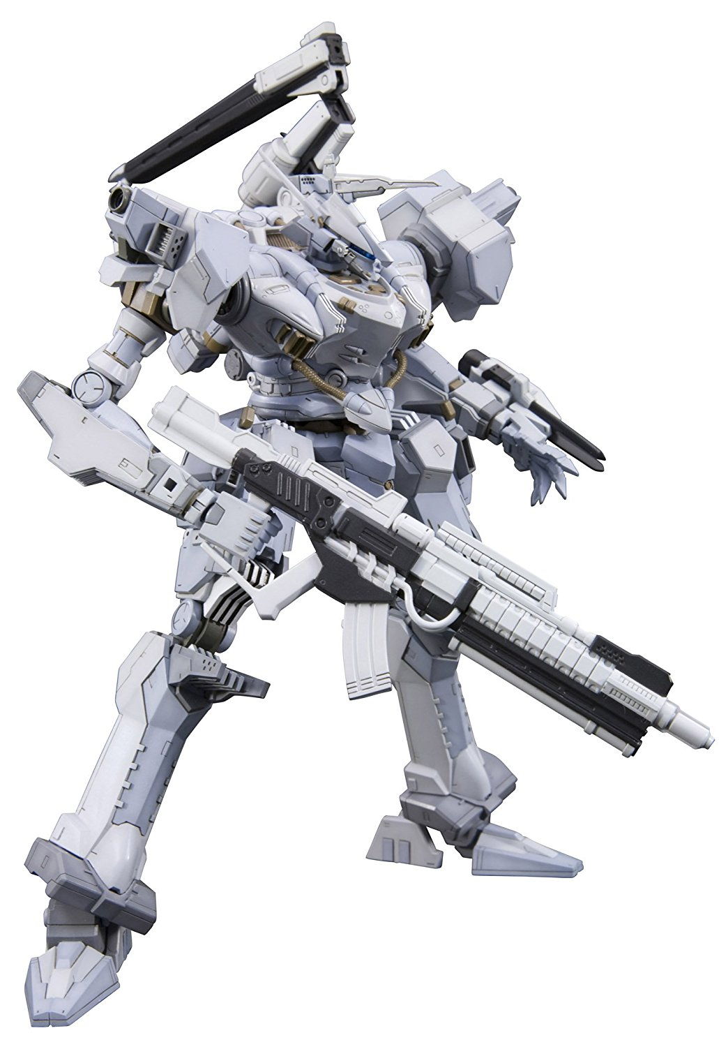 Armored Core 4 Fine Scale Model Kit: Aspina White Glint AC4 Version