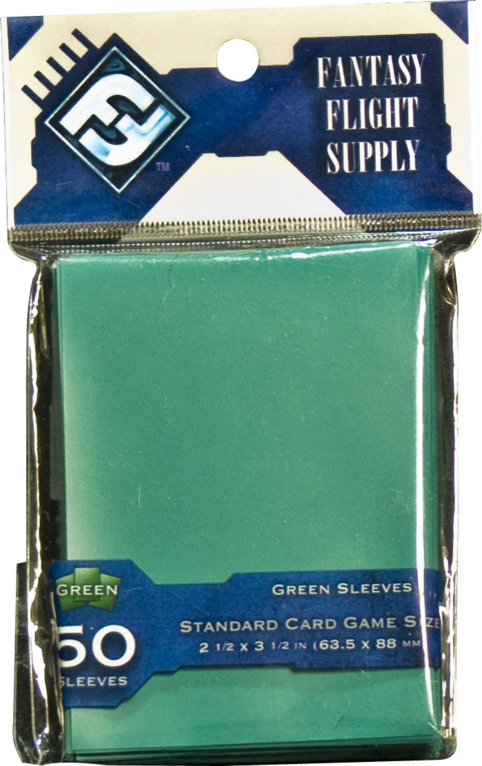 Card Sleeves Standard Board Game Size: Green
