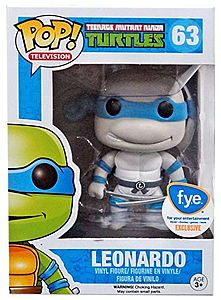 Pop! Television Teenage Mutant Ninja Turtles Vinyl Figure Leonardo (Grayscale) #63 FYE Exclusive