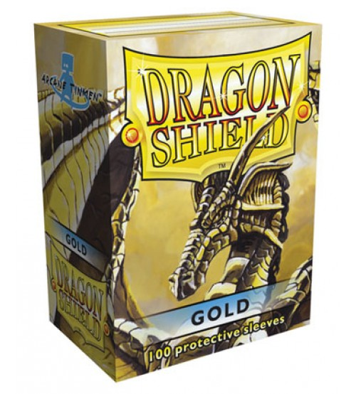 Dragon Shield Sleeves Standard Size: Gold