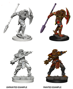 Dungeons & Dragons Roleplaying Game Unpainted Miniatures: Dragonborn Male Fighter Varia