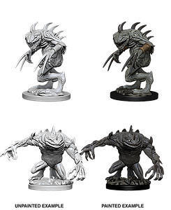 Dungeons & Dragons Nolzur's Marvelous Unpainted Miniatures: Grey Slaad & Death Slaad