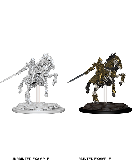Dungeons & Dragons Roleplaying Game Unpainted Miniatures: Mini-Skeleton Knight on Horse