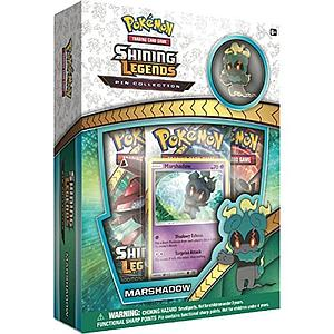 Pokemon Trading Card Game: Shining Legends Marshadow 3-Pack Blister with Pin