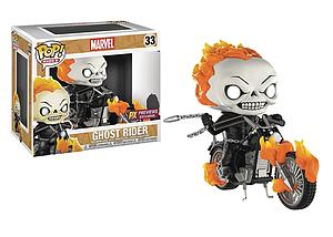 Pop! Rides Marvel Vinyl Bobble-Head Ghost Rider with Bike #33 PX Previews Exclusive