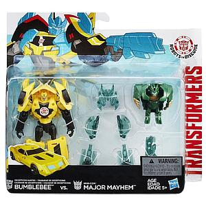 Hasbro Transformers Robots in Disguise 2-Pack Action Figures Bumblebee vs. Mini-Con Major Mayhem