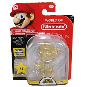 "World of Nintendo Super Mario 4"" Action Figure Star Power Mario"
