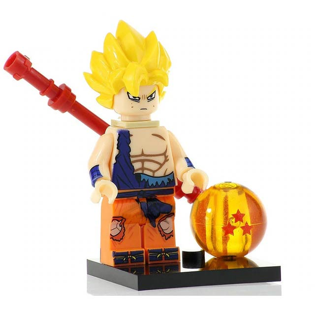 Anime Dragon Ball Z Minifigure: Goku Super-Saiyan