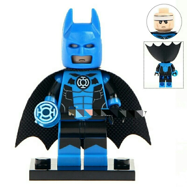 DC Comics SuperHeroes Minifigure: Batman (Blue Lantern)