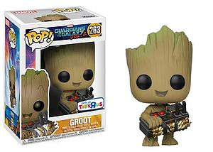 Pop! Marvel Guardians of the Galaxy Vol. 2 Vinyl Bobble-Head Groot (with Bomb) #263 Toys R Us Exclusive