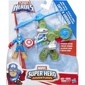 Playskool Heroes Marvel Super Hero Adventures Jungle Copter Captain America