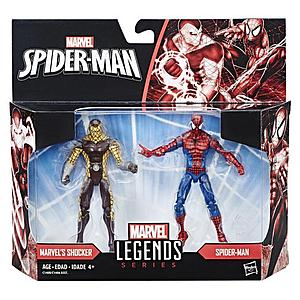Marvel Spider-Man Marvel Legends Series 2-Pack 4 Inch Action Figure Spider-Man and Shocker