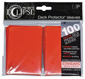 Card Sleeves 100-pack Eclipse Pro-Matte Standard Size: Red