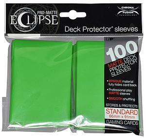 Card Sleeves 100-pack Eclipse Pro-Matte Standard Size: Green