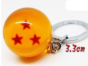 Dragon Ball Z Keychain 3-Star Crystal Dragon Ball