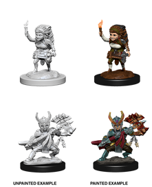 Dungeons & Dragons Nolzur's Marvelous Unpainted Miniatures: Female Halfling Fighter