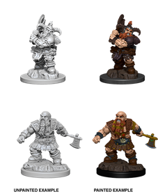 Dungeons & Dragons Nolzur's Marvelous Unpainted Miniatures: Male Dwarf Barbarian