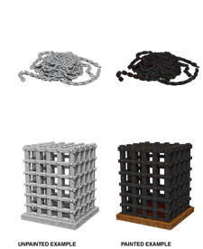 Deep Cuts Unpainted Miniatures: Cage & Chains