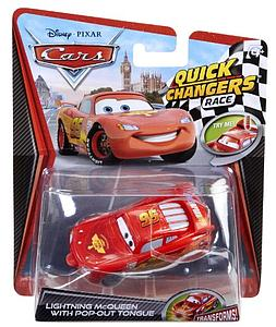 Mattel Disney Cars Die-Cast 1:55 Quick Changers Scale Toy: Lightning McQueen w/ Pop Out Tongue