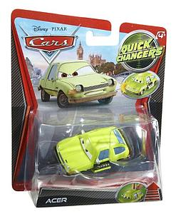 Mattel Disney Cars Die-Cast 1:55 Quick Changers Scale Toy: Acer w/ Pop Out Weapons