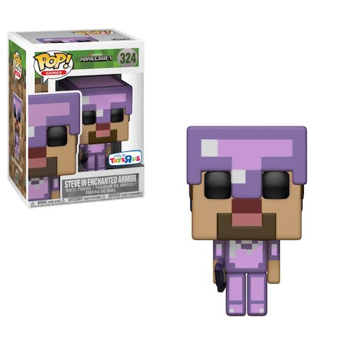 Pop! Games Minecraft Vinyl Figure Steve In Enchanted Armor #324 Toys R Us Exclusive