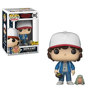 Pop! Television Stranger Things Vinyl Figure Dustin & Dart #593 Hot Topic Exclusive