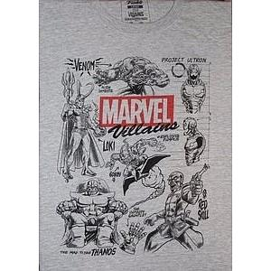 Pop! Tees Villains Tee (Grey T-Shirt) (L) Marvel Collector Corps Exclusive