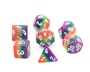 Poly RPG 7-Dice Set - Rainbow