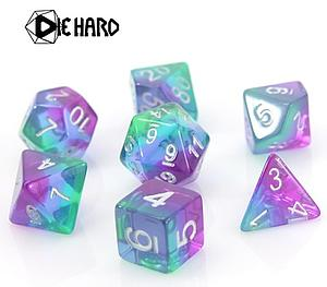 Poly RPG 7-Dice Set - Translucent Sunset