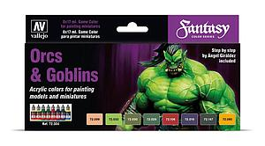 8 Game Colour Set - Orcs and Goblins