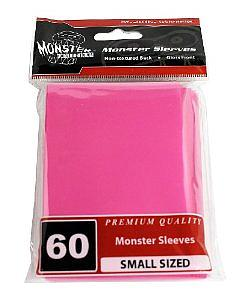 Premium Small-Size Card Sleeves: Pink (60 Pack)