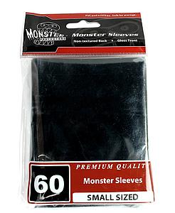 Premium Small-Size Card Sleeves: Black (60 Pack)