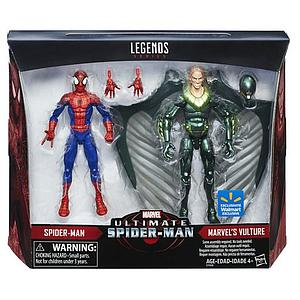 Marvel Ultimate Spider-Man Legends Series 2-Pack 6 Inch Action Figure Spideman and Vulture Walmart Exclusive