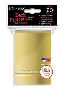 Deck Protectors 60-pack Small Size: Gold
