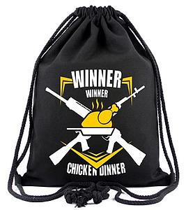 PUBG Player Unknown's BattleGrounds Drawstring Backpack Winner Winner Chicken Dinner