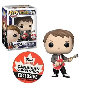 Pop! Movies Back to the Future Vinyl Figure Marty McFly (with Guitar) #602 2018 Canadian Convention Exclusive