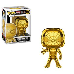 Pop! Marvel Studios The First Ten Year Vinyl Bobble-Head Iron Spider (Gold Chrome) #440