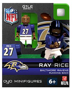 NFL Football Minifigures: Ray Rice (Baltimore Ravens)