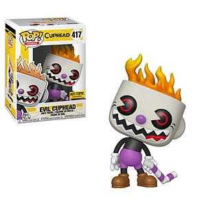 Pop! Games Cuphead Vinyl Figure Evil Cuphead #417 Hot Topic Exclusive