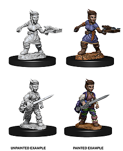 Pathfinder Deep Cuts Unpainted Miniatures: Female Halfling Rogue