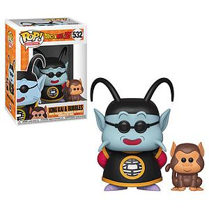 Pop! Animation Dragon Ball Z Vinyl Figure King Kai & Bubbles #532